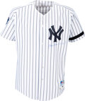 Baseball Collectibles:Uniforms, 2000 Joe Torre Game Worn & Signed New York Yankees Jersey with Bob Lemon Black Armband & World Series Patch - Photo Matched to...