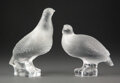 Glass, Pair of Lalique Clear and Frosted Glass Part...