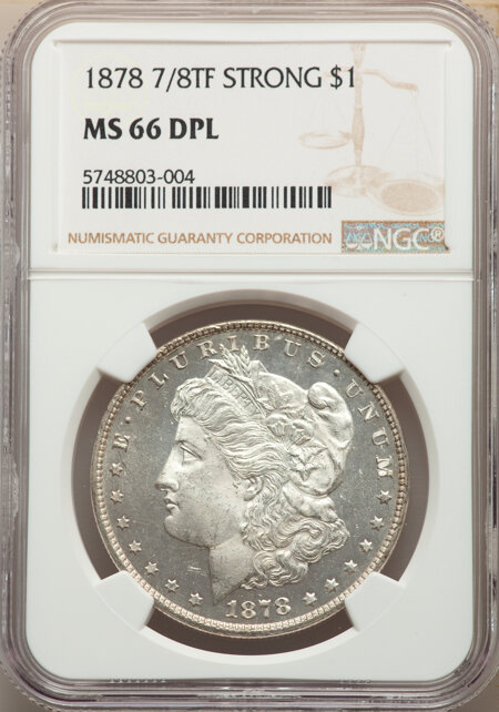 1878 7/8TF S$1 STRONG, DM 66 NGC