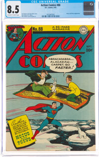 Action Comics #88 (DC, 1945) CGC VF+ 8.5 Off-white to white pages