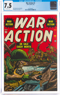 War Action #2 (Atlas, 1952) CGC VF- 7.5 Off-white pages
