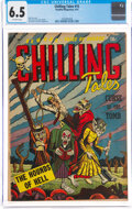 Golden Age (1938-1955):Horror, Chilling Tales #15 (Youthful Magazines, 1953) CGC FN+ 6.5 Off-white pages....