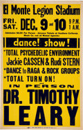 """Music Memorabilia:Posters, Dr. Timothy Leary 1966 Southern California """"Total Psychedelic Environment"""" Show Poster...."""