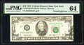 Error Notes:Foldovers, Printed Fold Error Fr. 2079-B $20 1993 Federal Reserve Note. PMG Choice Uncirculated 64.. ...