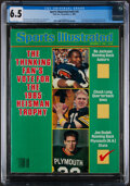 """Football Collectibles:Publications, 1985 Bo Jackson First """"Sports Illustrated"""", CGC 6.5 - Pop One, None Higher!..."""