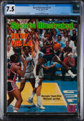 """Basketball Collectibles:Publications, 1984 Michael Jordan """"Sports Illustrated"""", CGC 7.5 - USA Olympic Basketball Team...."""
