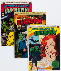 Adventures Into The Unknown #21, 25, and 39 Group (ACG, 1951-53).... (Total: 3 Comic Books)