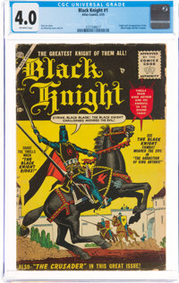 Black Knight #1 (Atlas, 1955) CGC VG 4.0 Off-white pages