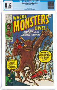 Where Monsters Dwell #6 (Marvel, 1970) CGC VF+ 8.5 Off-white to white pages