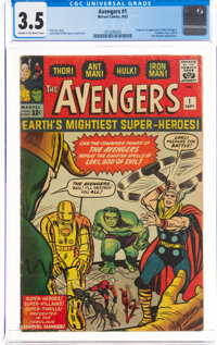 The Avengers #1 (Marvel, 1963) CGC VG- 3.5 Cream to off-white pages
