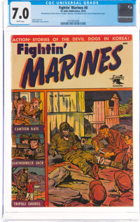 Fightin' Marines #8 (St. John, 1952) CGC FN/VF 7.0 White pages