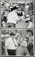 Football Collectibles:Photos, Woody Hayes Vintage Photographs, Lot of 2.... (Total: 2 items)