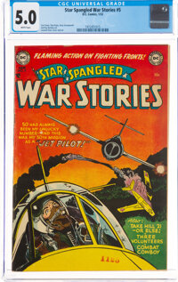 Star Spangled War Stories #5 (DC, 1953) CGC VG/FN 5.0 White pages