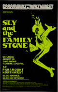 Music Memorabilia:Posters, Sly & the Family Stone 1973 Portland, OR Concert Poster....