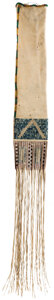 American Indian Art:Beadwork and Quillwork, Beaded and Quilled Lakota Pipe Bag, c. 1850. Used...