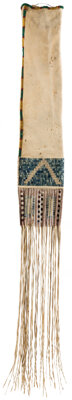 Beaded and Quilled Lakota Pipe Bag, c. 1850