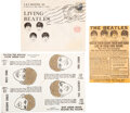 """Music Memorabilia:Memorabilia, The Beatles """"Grow Your Own Hair"""" Complete Set with Ad and Envelope (6) (A&B Industries,Inc, 1964)...."""