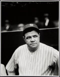 Baseball Collectibles:Photos, Babe Ruth Close-Up Portrait Oversized Modern Print - The Charles Conlon Collection. ...