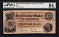 Confederate Notes:1864 Issues, T64 $500 1864 PF-2 Cr. 489 PMG Choice Uncirculated 64 EPQ.. ...