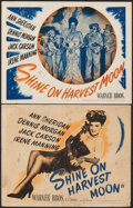 """Movie Posters:Musical, Shine on Harvest Moon (Warner Bros., 1944). Overall: Fine. Title Lobby Card & Lobby Card (11"""" X 14""""). Musical.. ..."""
