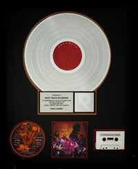 Alice in Chains Unplugged RIAA R Hologram Platinum Sales Award