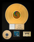 Music Memorabilia:Autographs and Signed Items, Elton John Signed Madman Across the Water RIAA Hologram Gold Sales Award....