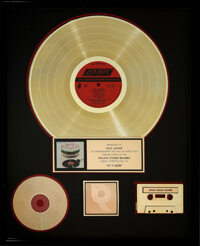 The Rolling Stones Let It Bleed RIAA Hologram R Gold Sales Award Presented to Mick Jagger.... (Total: 0 Items)