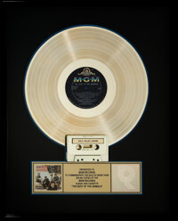The Animals Best Of RIAA R Hologram Gold Sales Award