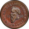 Civil War Merchants, 1863 Token Chas. Kleinsteuber, Milwaukee, WI., Fuld-510V-1a -- Cleaned -- NGC Details. Unc....