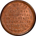 Civil War Merchants, (1861-65) Token D. Kreps Farm Tools, Perrysburg, OH., Fuld-725B-1a, MS66 Brown NGC....