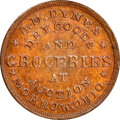 Civil War Merchants, 1863 Token J.M. Dynes Groceries, Morrow, OH., Fuld-570A-1a, MS66 Brown NGC....