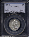 Washington Quarters: , 1932-S MS62 PCGS. ...