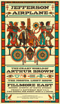 Music Memorabilia:Posters, Jefferson Airplane / Crazy World of Arthur Brown 1968 Fillmore East Concert Poster. ...