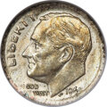 Errors, 1965 10C Roosevelt Dime -- Struck on Silver Planchet -- AU55 ANACS. An important transitional error, struck on a leftover s...
