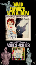 """Music Memorabilia:Posters, David Bowie 1980 Scary Monsters / """"Ashes to Ashes"""" RCA Promo Poster...."""