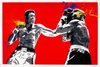 Mr. Brainwash (b. 1966) Muhammad Ali (Life is Wonderful), 2008 Screenprint in colors with acrylic ha