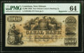 Obsoletes By State:Louisiana, New Orleans, LA- New Orleans Canal & Banking Co. $1000 18__ G80a Remainder PMG Choice Uncirculated 64.. ...