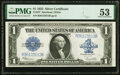 Large Size:Silver Certificates, Repeater 36123612 Fr. 237 $1 1923 Silver Certificate PMG About Uncirculated 53.. ...