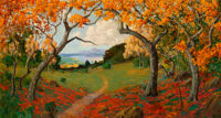 William Alexander Griffith (American, 1866-1940) Autumn Landscape, 1928 Oil on canvas 26 x 48 inc