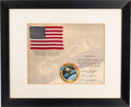 Explorers:Space Exploration, Apollo-Soyuz Test Project Flown American Flag on Crew-Signed Certificate Directly from the Estate of NASA Legend Chris Kraft, ...