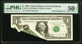 Error Notes, Printed Fold Error Fr. 1921-E $1 1995 Federal Reserve Note. PMG About Uncirculated 50 EPQ.. ...