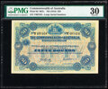 World Currency, Australia Commonwealth of Australia 50 Pounds ND (1918) Pick 8d R67c PMG Very Fine 30.. ...