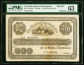 World Currency, Australia Bank of Australasia, Maitland, 10 Pounds ND (1878-1910) Pick Unlisted MVR2c Front Proof PMG Choice Uncir...