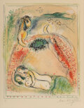 Prints & Multiples, Marc Chagall (1887-1985). Oh happy bridegroom, from Sur la terre des dieux, 1967. Lithograph in colors on Arches pap...