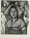 Prints & Multiples, Pablo Picasso (1881-1973). L'Italienne, 1953. Lithograph with photo-lithograph on Arches paper, second state (of 2). 17-...