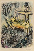 Prints & Multiples, Marc Chagall (1887-1985). Vision de Jacob, 1971. Lithograph in colors on Arches wove paper. 30-1/4 x 20-7/8 inches (76.8...