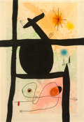 Prints & Multiples, Joan Miró (1893-1983). La Calebasse, 1969. Etching and aquatint in colors with carborundum on Arches paper. 40 x 27 inch...
