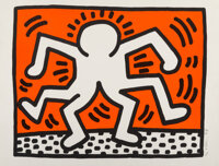 Keith Haring (1958-1990) Double Man, from Portfolio of 5 Artists in Support of Bill T. Jones/Arnie Z
