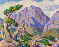 Paintings, Birger Sandzén (American, 1871-1954). The Mighty Peak, Longs Peak, Estes Park, Colorado, 1937. Oil on ...