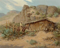 Paintings, Olaf Wieghorst (American, 1899-1988). Line Camp. Oil on canvas. 24 x 30-1/8 inches (61.0 x 76.5 cm). Signed lower left: ...